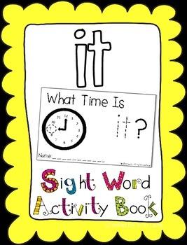 "Sight Word Activity Book: ""It"""
