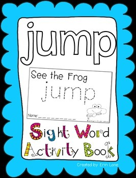 "Sight Word Activity Book: ""Jump"""