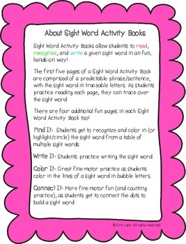 "Sight Word Activity Book: ""Like"""
