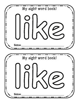 Sight Word Interactive Activity Books: Unit 1;  4 books!!