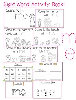 "Sight Word Activity Book: ""Me"""