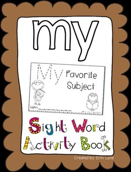 "Sight Word Activity Book: ""My"""