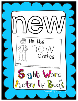 "Sight Word Activity Book: ""New"""