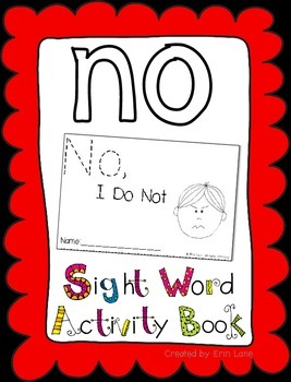 "Sight Word Activity Book: ""No"""