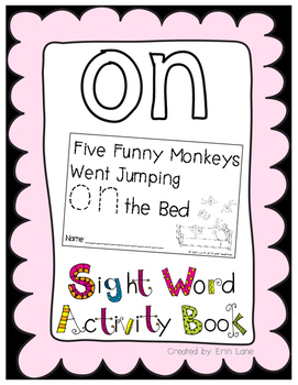 "Sight Word Activity Book: ""On"""