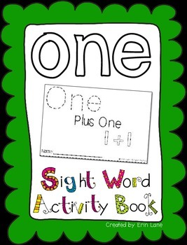 "Sight Word Activity Book: ""One"""