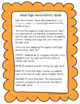 "Sight Word Activity Book: ""Out"""