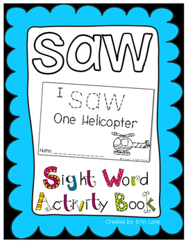 "Sight Word Activity Book: ""Saw"""