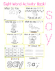 "Sight Word Activity Book: ""Say"""