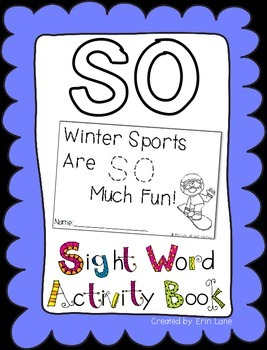 "Sight Word Activity Book: ""So"""