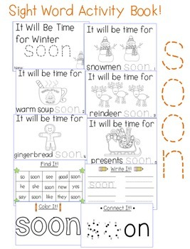"Sight Word Activity Book: ""Soon"""