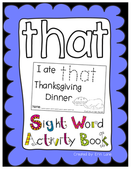 "Sight Word Activity Book: ""That"""