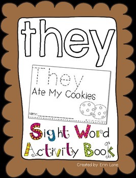 """Sight Word Activity Book: """"They"""""""