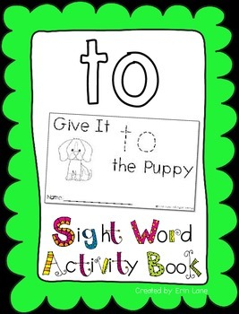 "Sight Word Activity Book: ""To"""