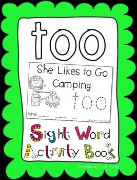 "Sight Word Activity Book: ""Too"""