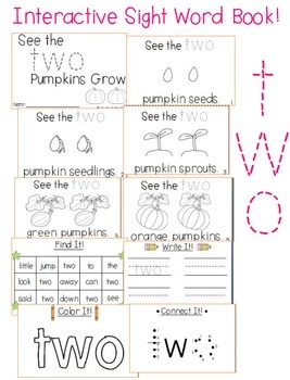 """Sight Word Activity Book: """"Two"""""""