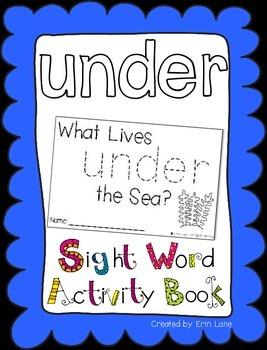 "Sight Word Activity Book: ""Under"""