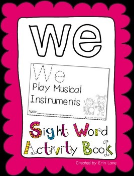 """Sight Word Activity Book: """"We"""""""