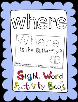 """Sight Word Activity Book: """"Where"""""""