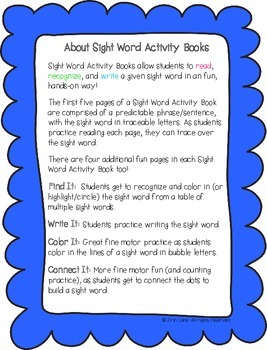 "Sight Word Activity Book: ""Who"""