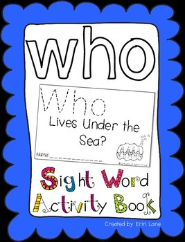 """Sight Word Activity Book: """"Who"""""""
