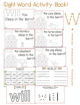 """Sight Word Activity Book: """"Will"""""""