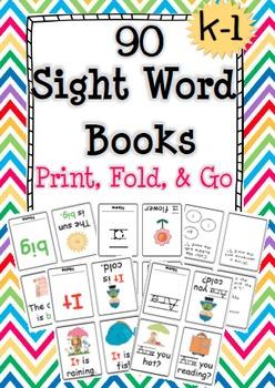 Sight Word & Activity Books (Kinder - 1st)