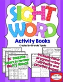Sight Word Activity Books, Set 1: Fry Words 1-100 EDITABLE