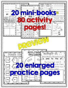 Sight Word Activity Books, Set 2: Fry Words 101-200 EDITABLE