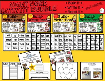 Sight Word Activity - Build it, Write it, Read it: The Fir