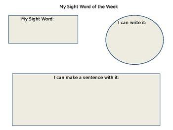 Sight Word Activity Bundle
