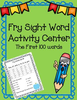 Sight Word Activity Center First 100