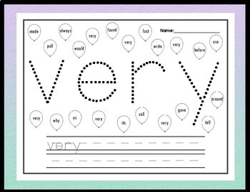 Third Grade Sight Words with Pinning {41 Words!}