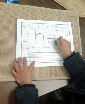 First Grade Literacy Centers with Pins and Paper {41 words!}