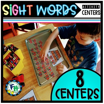 Sight Word Activity Centers {8 Pre-Primer Centers}