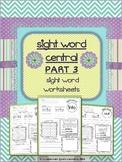Sight Word Activity PART 3