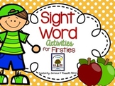 Sight Word Activity Pack: AUGUST {Marvelous Morning Work for Firsties}