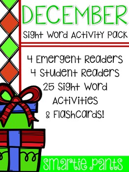 Sight Word Activity Pack - December