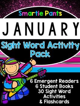 Sight Word Activity Pack - January