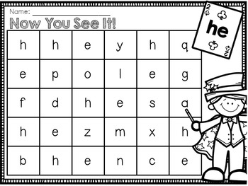 Sight Word Activity Pack - October