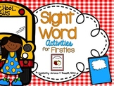 Sight Word Activity Pack: SEPTEMBER {Marvelous Morning Work for Firsties}