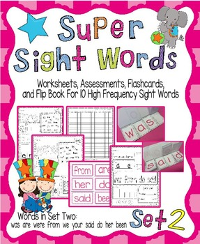 Sight Word Activity Pack Set 2