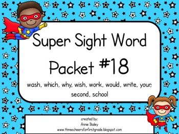 Sight Word Activity Packet #18