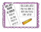 Sight Word Activity Packet
