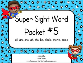 Sight Word Activity Packet #5