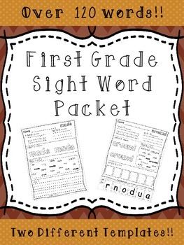 Sight Word Activity Packet - OVER 120 WORDS!!