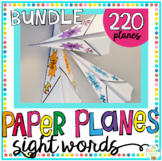 Sight Word Activity Paper Planes 220 Sight Words Bundle