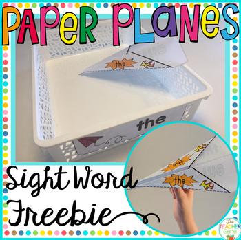 Sight Word Activity Paper Planes Freebie