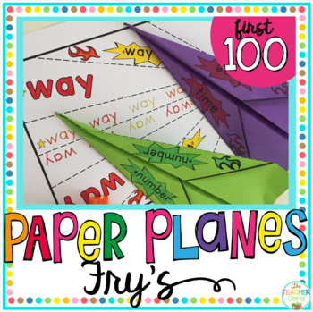 Sight Word Activity Paper Planes Fry's First 100