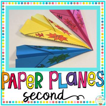 Sight Word Activity Paper Planes Second Grade